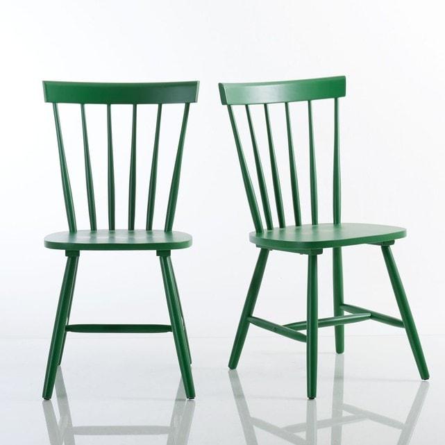 Chaises bois barreaux
