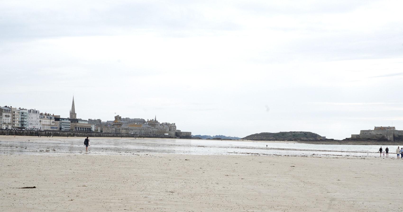 Plage du Sillon à marée basse St-Malo