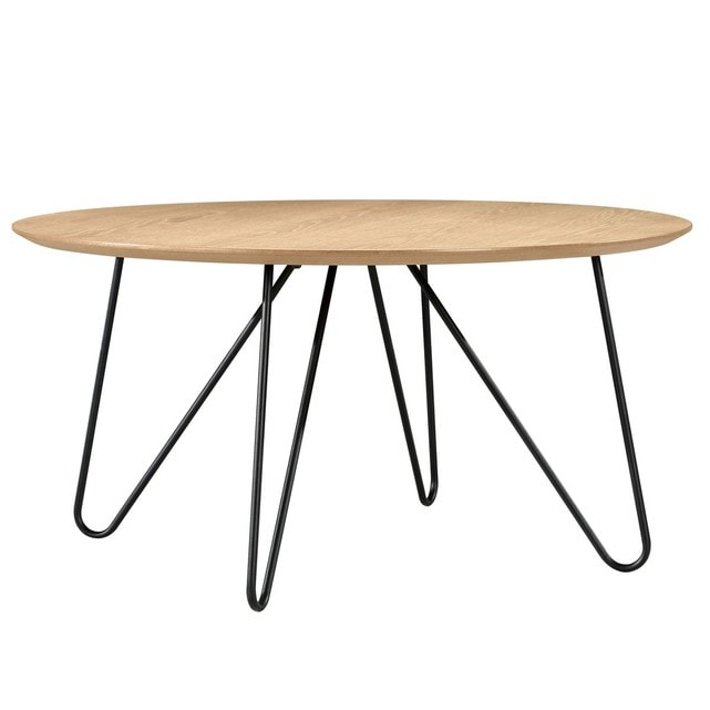 Table basse ronde bois design