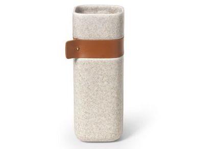 Vase terre cuite cuir