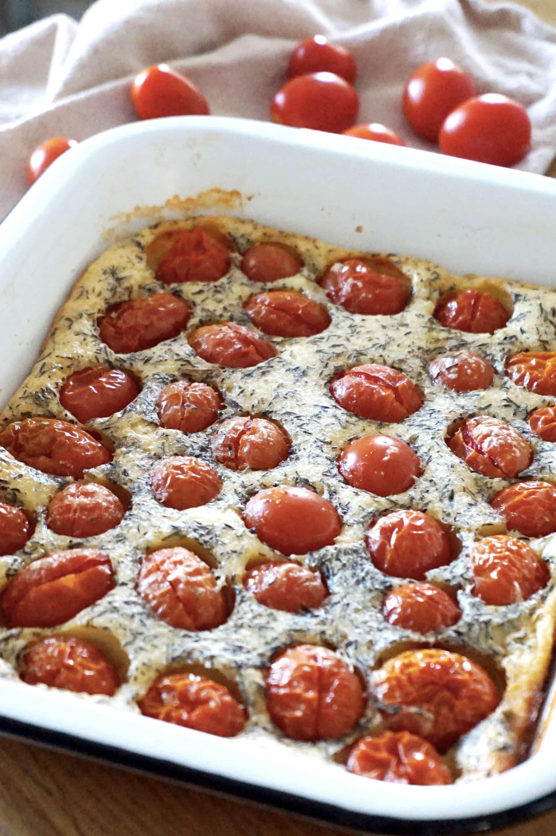 Recette clafoutis de tomates cerises - Recette végétarienne