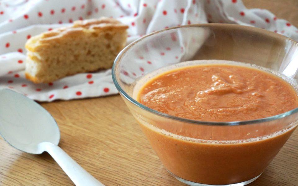 Recette du gaspacho sans concombre sans poivron