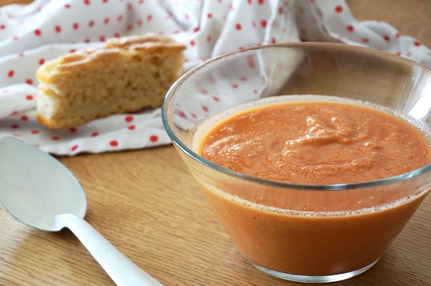 Recette gaspacho sans cocombre sans poivron