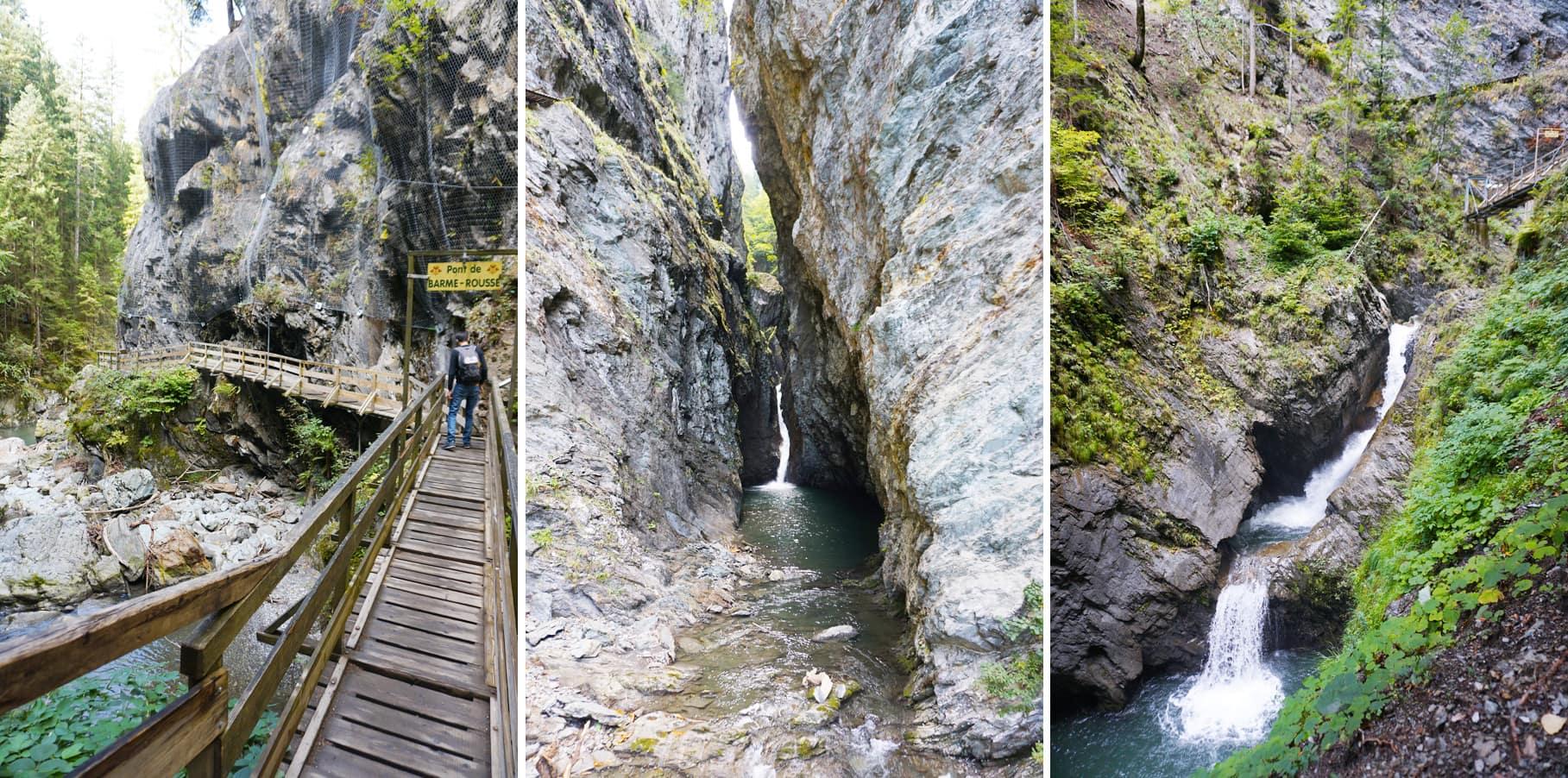 Un week-end en famille à Chamonix - Les gorges de la Diosaz