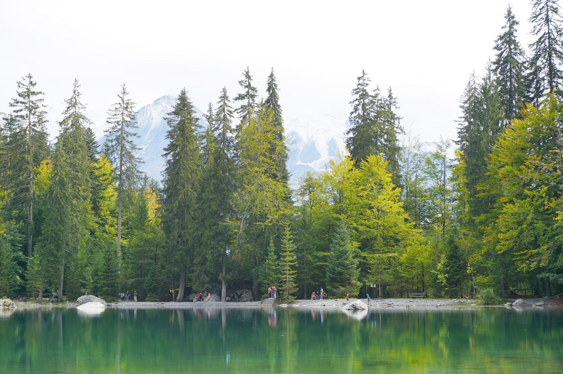 Un week-end en famille à Chamonix - Le lac vert à Passy