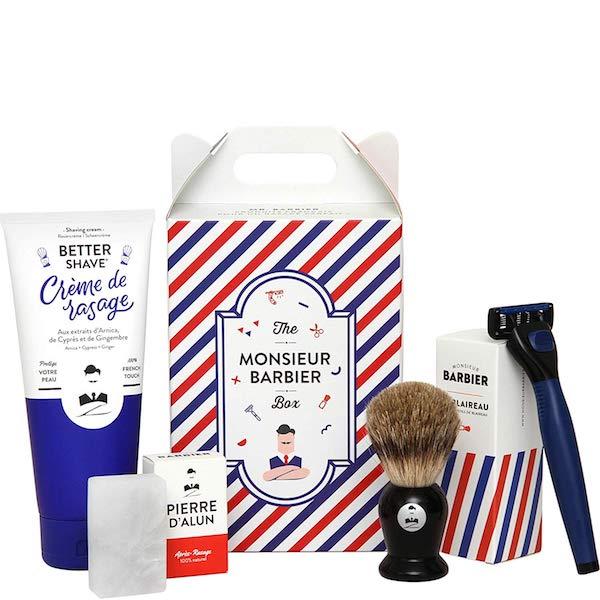 Coffret de rasage Monsieur Barbier - Idée cadeau pour homme - Cadeau anniversaire homme cadeau ou cadeau Noël homme