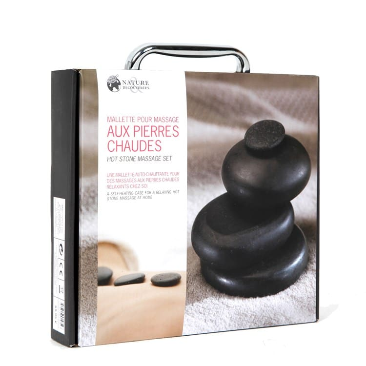 Malette de massage aux pierres chaudes - Idée cadeau pour homme - Cadeau anniversaire homme cadeau ou cadeau Noël homme