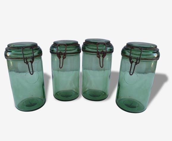 Bocaux litre durfor vert bouteille vers annees original