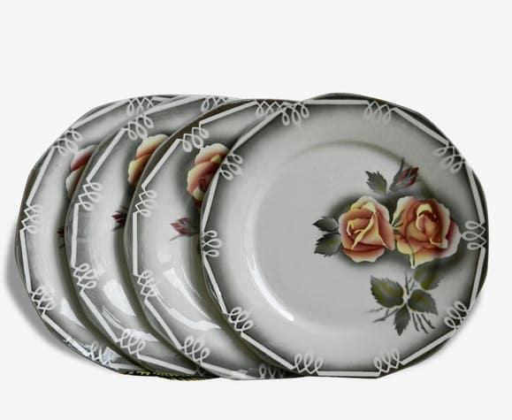 Digoin sarreguemines ensemble de assiettes plates modele odile original