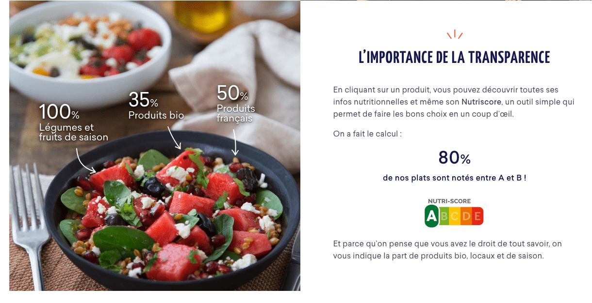 La transparence de FoodChéri - Parrainage code de réduction Foodchéri