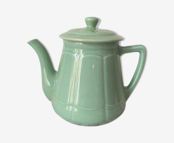 Grande theiere ancienne au vert celadon original