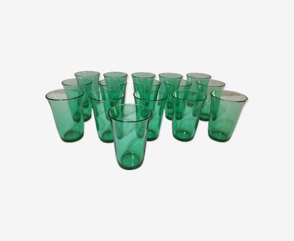 Serie de verres vert original