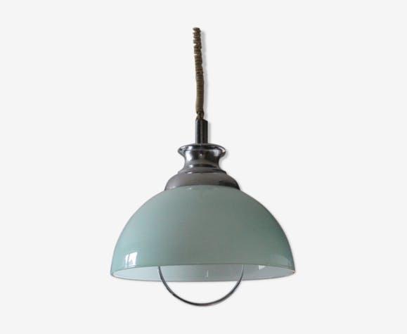 Suspension globe en opaline original