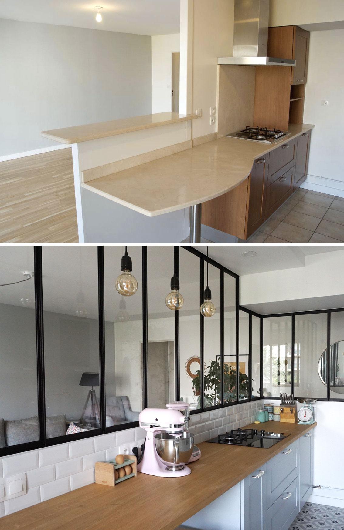 Relooking cuisine avec verrière - Décoration & rénovation - Blog déco