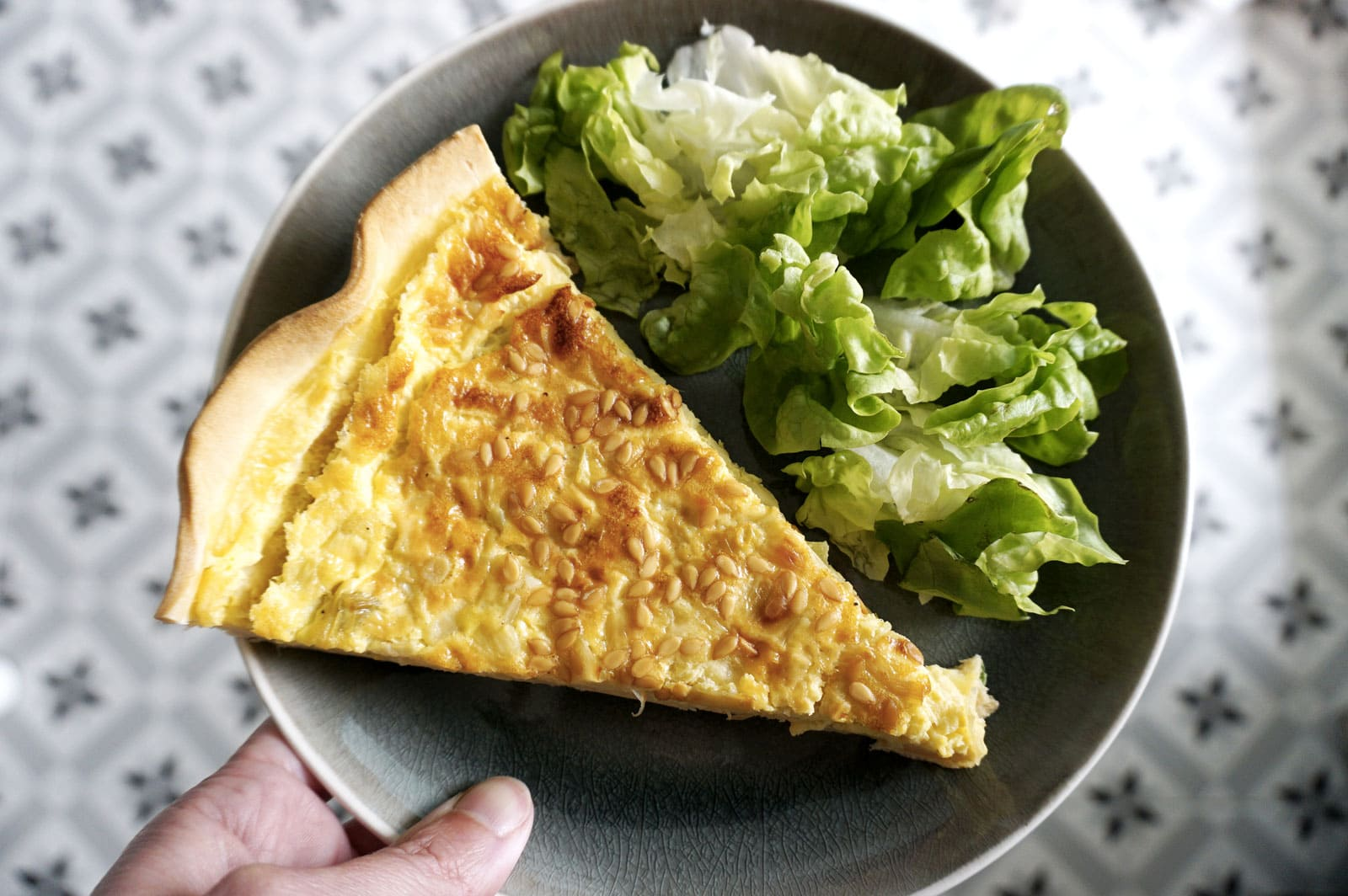 Recette tarte poireaux & Saint-Nectaire