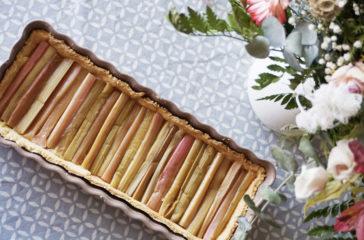 Tarte rhubarbe graphique