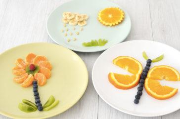 Assiette créative enfant pour leur faire manger des fruits