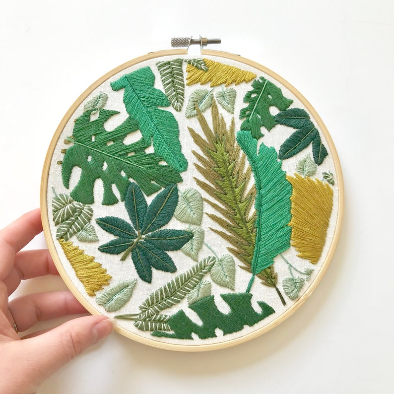 Broderie tambour jungle