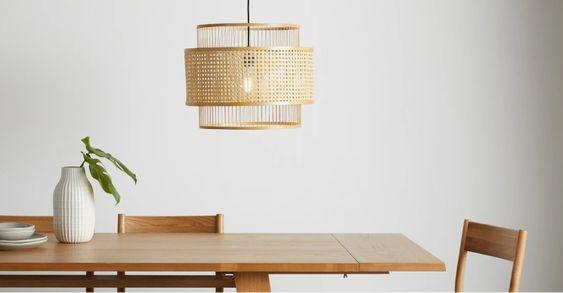 Luminaire : suspension en rotin, suspension tressée, suspension bambou