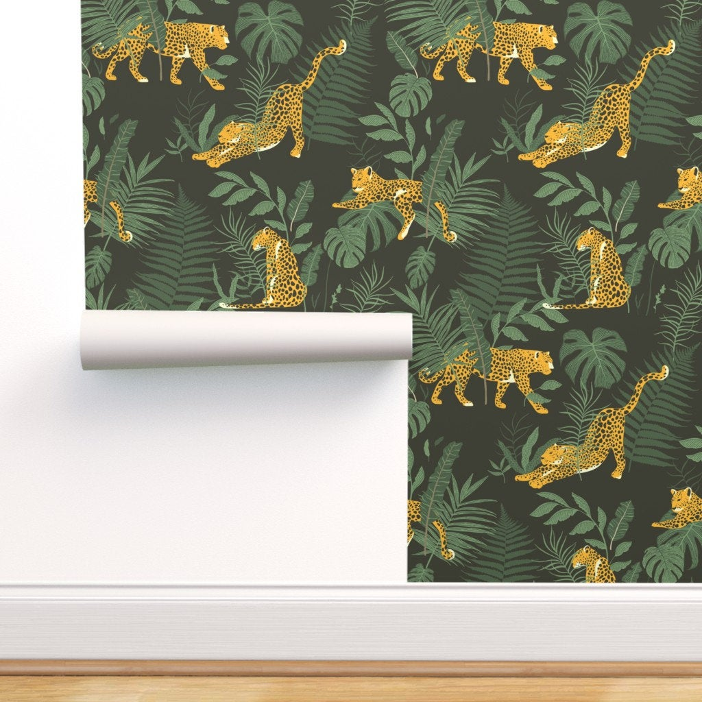 Idée déco chambre enfant : Papier peint nature jungle