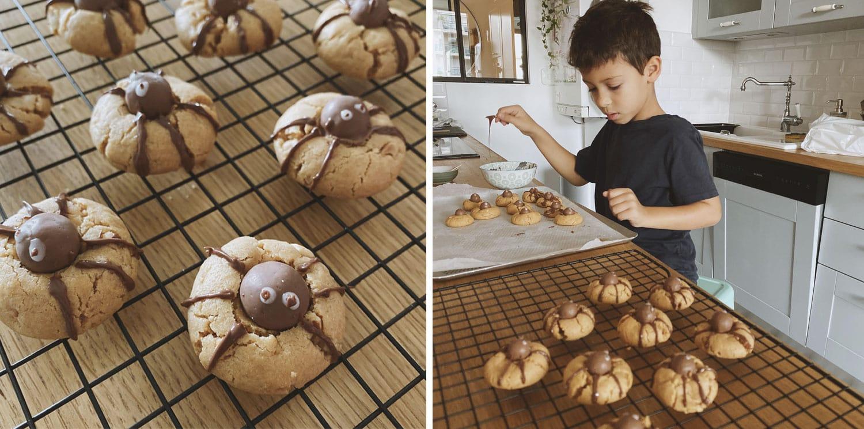 Recette Halloween : Cookies araignée