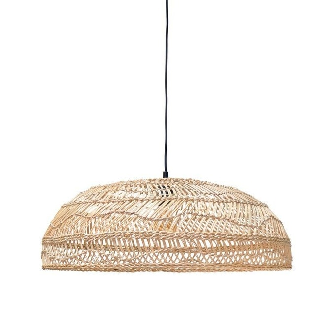 Luminaire : suspension en rotin, suspension tressée, suspension bambou
