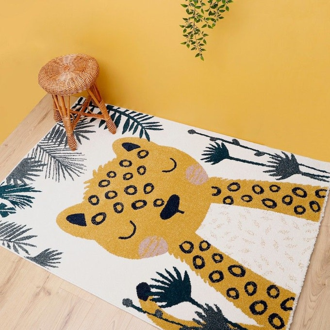 Tapis chambre enfant : tapis inspiration jungle nature tropicale