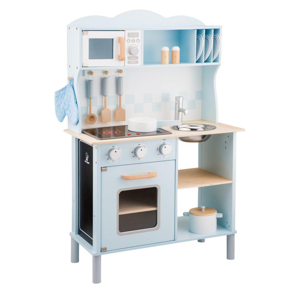 cuisine en bois jouet pour enfants couleurs pastel 1 m
