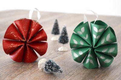 DIY Déco Noël en carton - Une activité manuelle à faire avec les enfants pendant les vacances de Noël