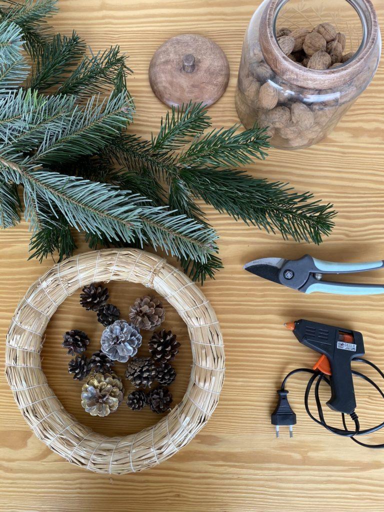 Matériel DIY Couronne Noël
