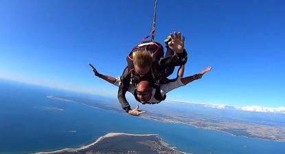 Saut parachute idee cadeau