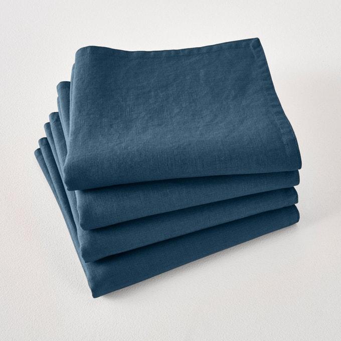 Serviettes table lin lave