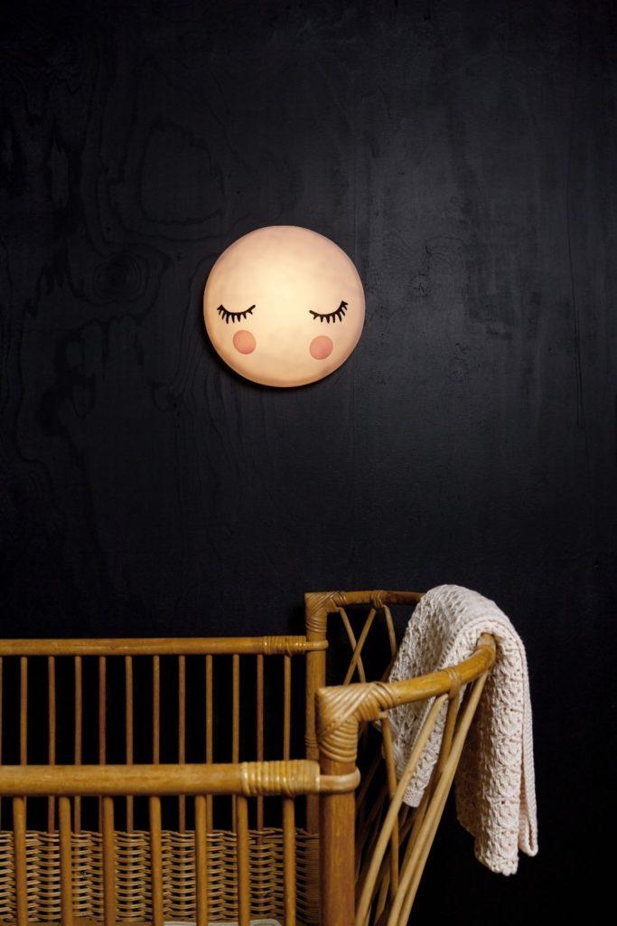 Veilleuse murale tactile lune rose in april