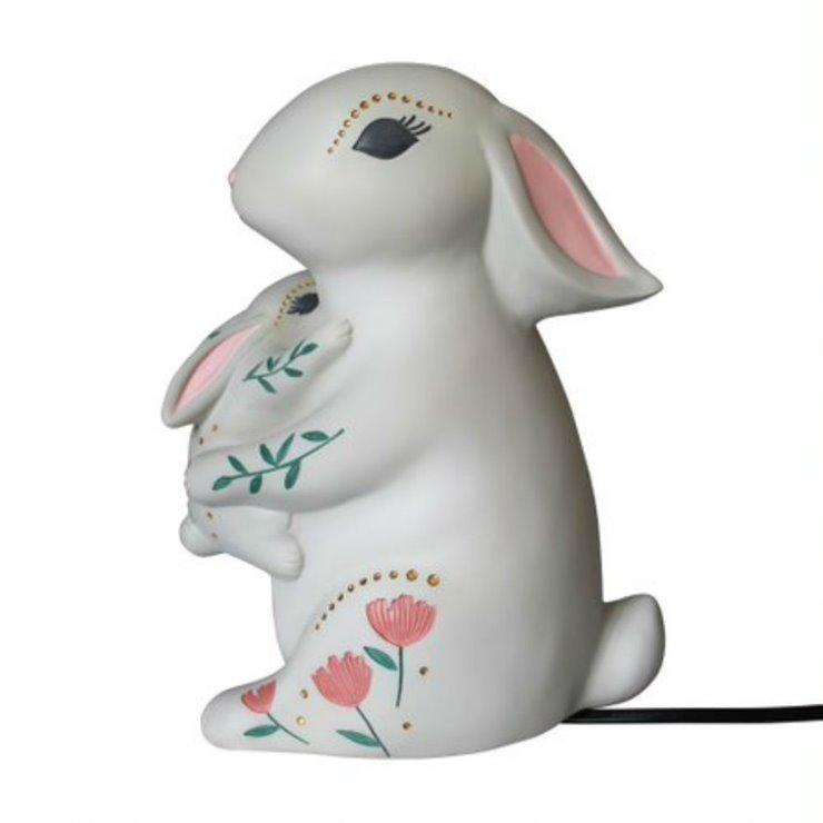 Baby and mum rabbit lampe