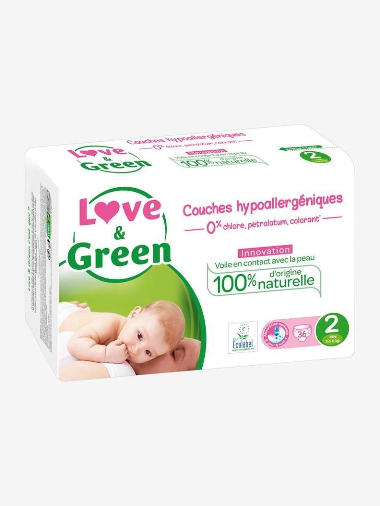 Couches hypoallergeniques t x love green