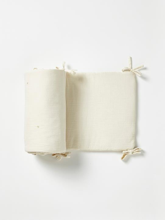 Tour de lit gaze de coton gaufre