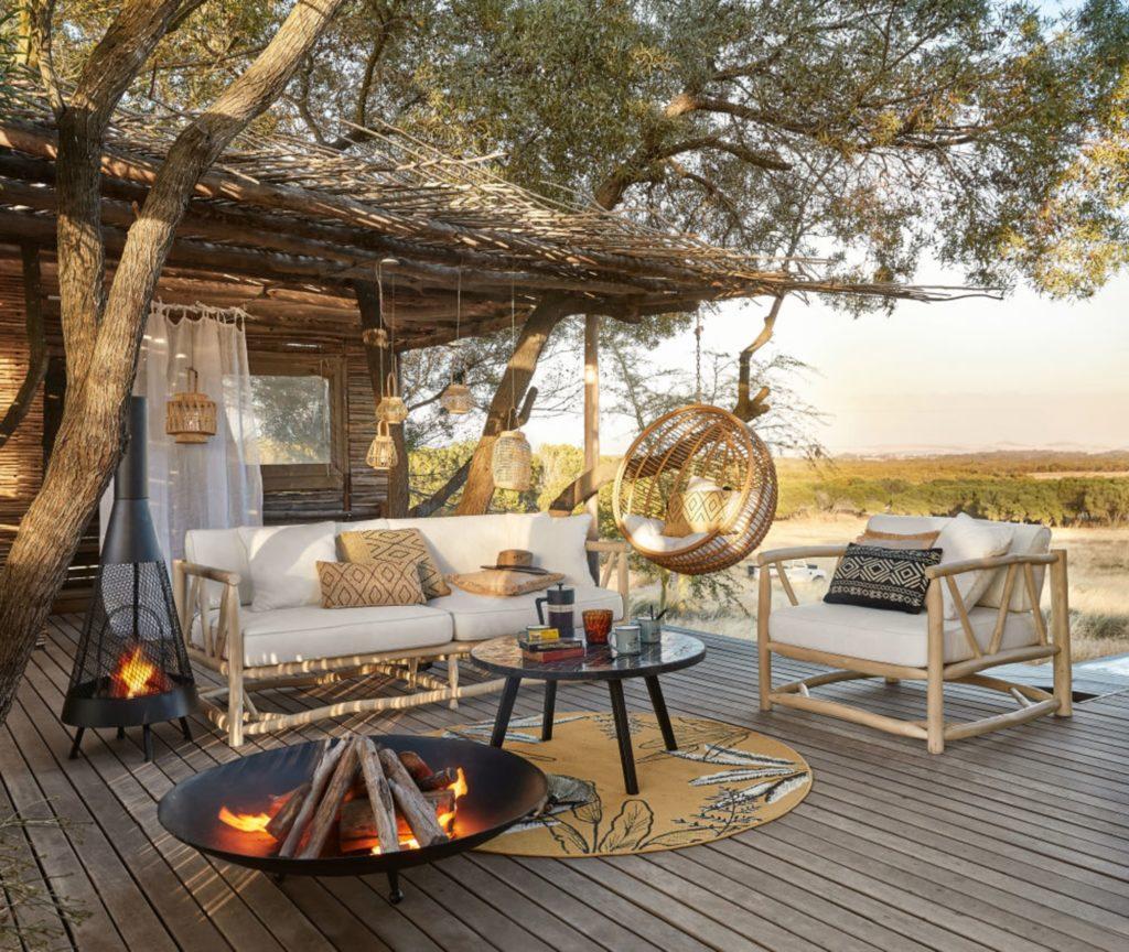 Salon jardin ambiance safari