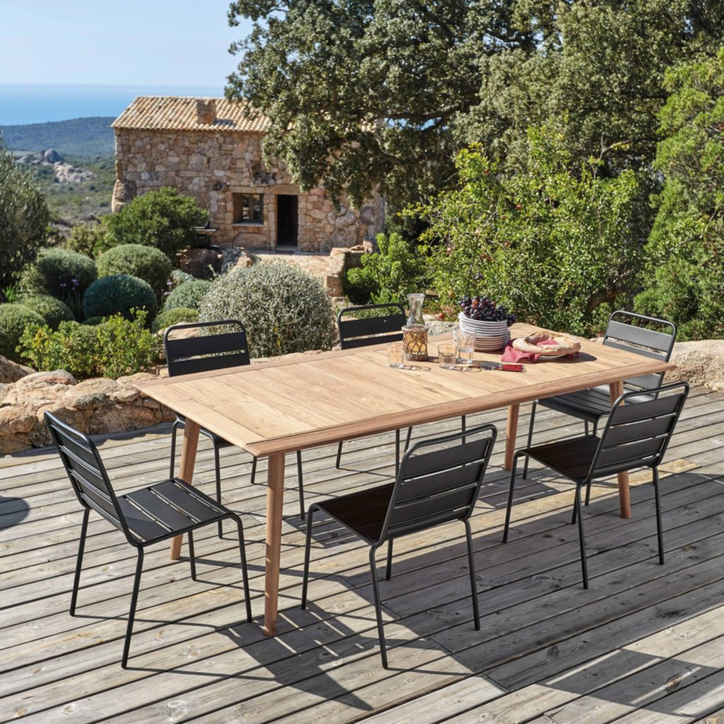 Table de jardin personnes en acacia massif