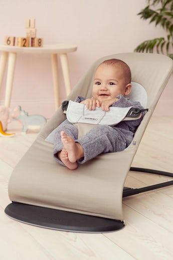 babybjorn transat balance soft beige gris cotton jersey