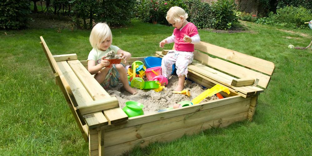 bac a sable en bois enfant