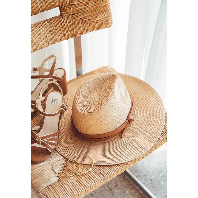 chapeau galon cuir