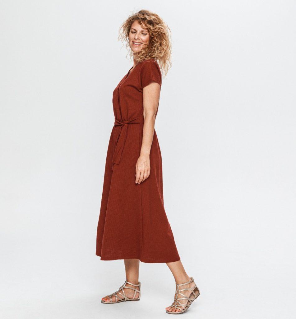 robe en coton gaufre femme