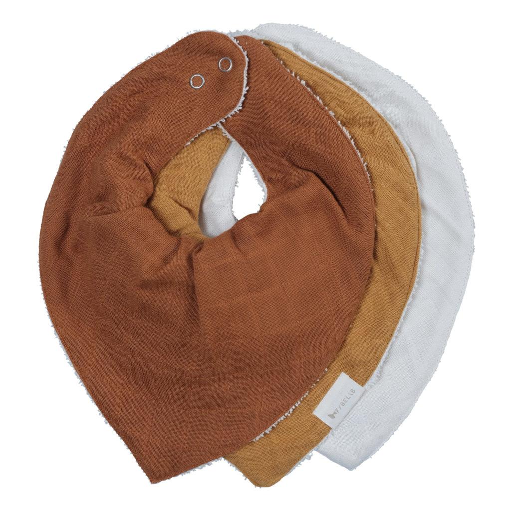 bavoirs bandana en coton bio set de