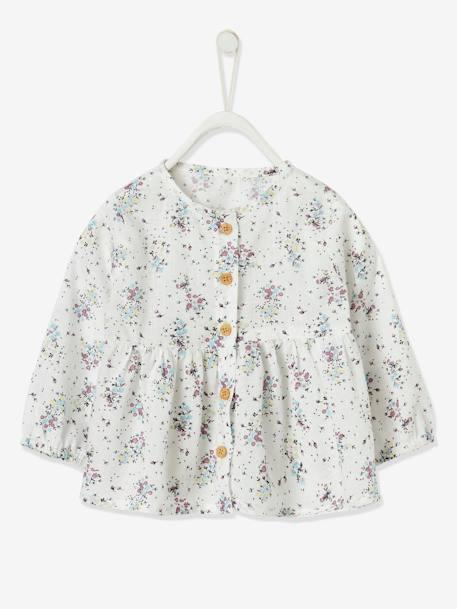 blouse fleurie bebe fille