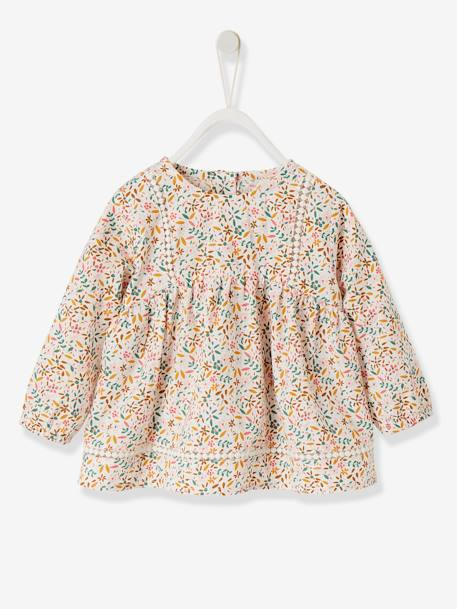 blouse imprimee galons fantaisie fille