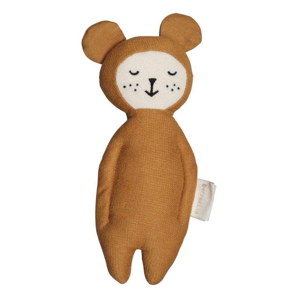 hochet en coton bio ours