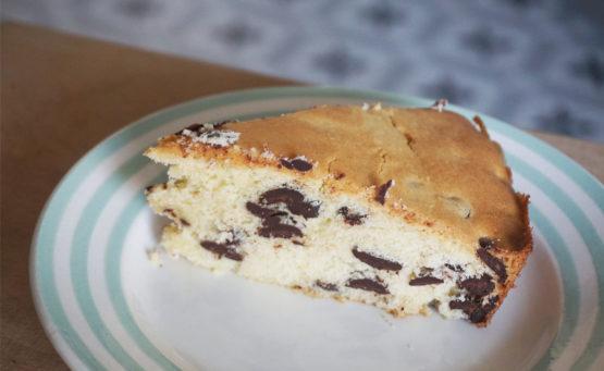 gateau moelleux pepites chocolat