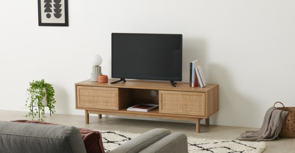 grand meuble tv cannage made
