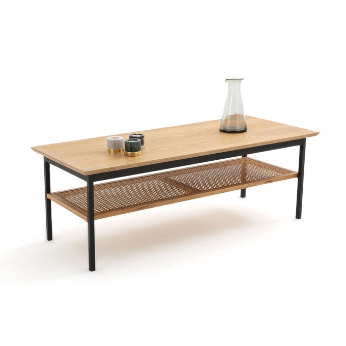 table basse rectangulaire cannage