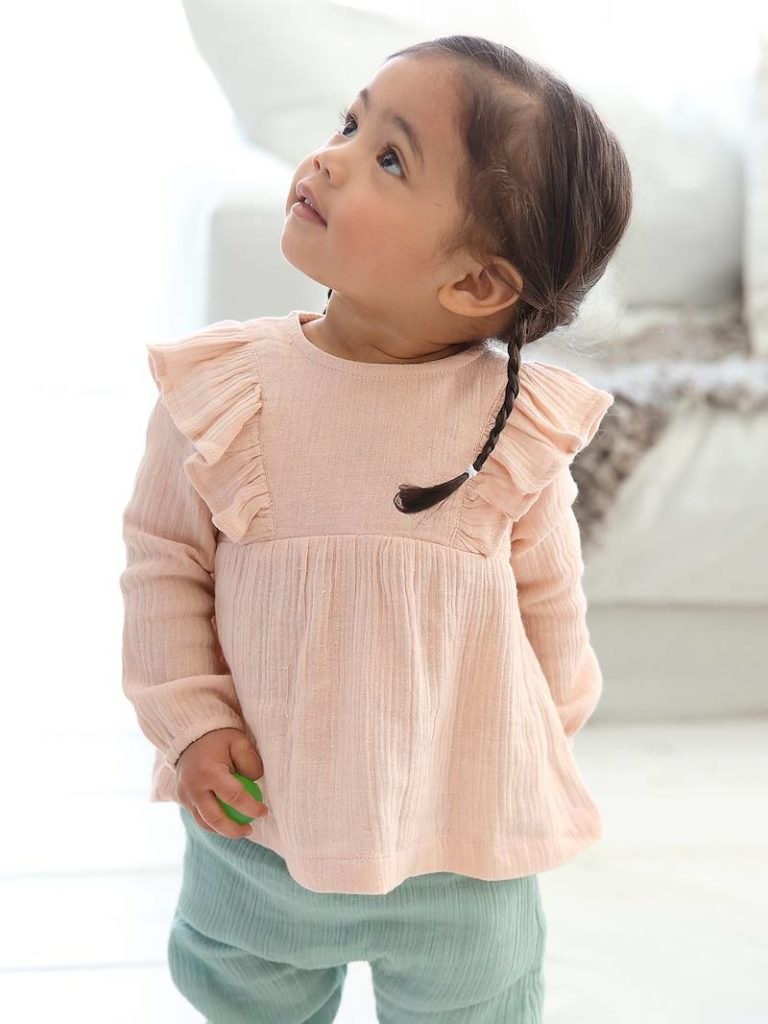 blouse volantee bebe fille